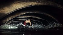 Wakeboarders tackle Victorian storm drain