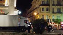 Nice'te çatışma anı görüntüleri