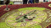 Edinburgh's huge floral clock is ready
