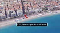 Attack in Nice: Fly-through video of how events unfolded
