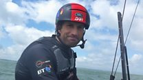 On board Ben Ainslie's America's Cup boat