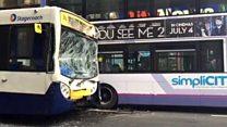 Bus crash in Glasgow city centre