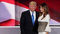 Melania Trump takes the stage