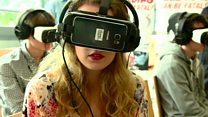 Virtual reality car crash