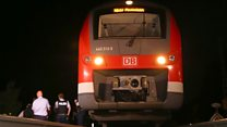 Axe attack on German train