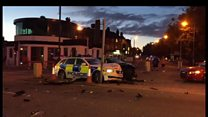 Aftermath of Liverpool police pursuit crash