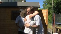 Race-hate attack family get new shed
