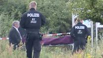 German train attacker 'had IS flag'