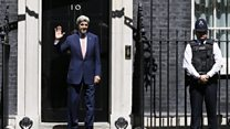 John Kerry walks into No 10 door