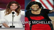Melania Trump yagirizwa kwigana Michelle Obama