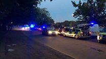 Hyde Park 'water fight' eyewitness describes unrest