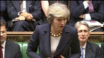 May teases 'unscrupulous boss' Corbyn