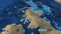 Heavy downpours across Scotland