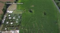 Darth Vader appears in crop field in the Forest of Dean