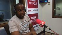 Floribert Anzuluni,  le coordonnateur du mouvement citoyen congolais Filimbi.
