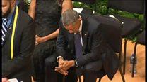「あまりに何度もこういう追悼式で……」オバマ氏