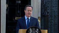 キャメロン英首相、辞意表明 EU離脱派勝利で引責