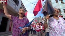 中国の村、村長の拘束に抗議デモ かつて共産党幹部を追放