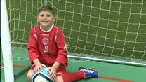 Team starts for boy with cerebral palsy