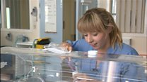 Saved premature baby returns as nurse