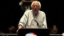 Bernie Sanders booed for praising Clinton