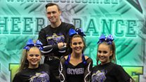 Watch: The cheerleading star with cerebral palsy