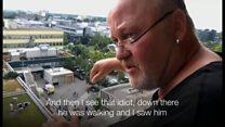 ミュンヘン銃撃の目撃者 階上から容疑者とやり取り