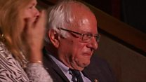 El emotivo discurso que  hizo llorar a Bernie Sanders en la Convención Demócrata