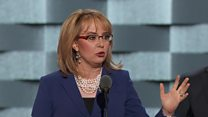 Huge cheers for Gabby Giffords