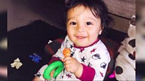 Baby death mum 'searched web for help'