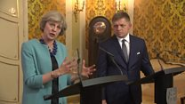 Theresa May on Slovakian workers' rights in UK