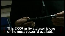demonstration of a laser pen