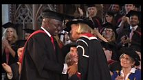 Bristol student stands to receive degree after 5 years in a wheelchair