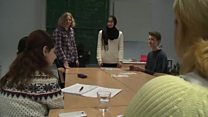 German youths teach language to Syrians
