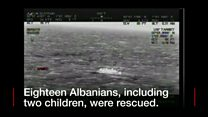 The Albanians were found in the English Channel