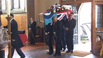 Funeral held for UK's oldest person