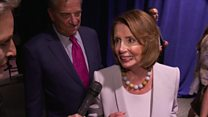 Pelosi reflects on Clinton's big moment