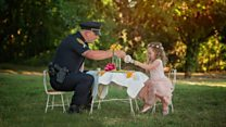 Tea party for hero police officer