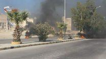 Дымовая завеса над Алеппо: горожане жгут покрышки
