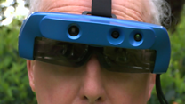 Smart glasses helping the blind see in the dark