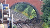Bridge collapse causes rail chaos