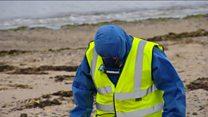 Asbestos search on Prestwick beach