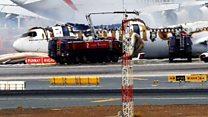 Indege ya Emirates yagize impanuka irimo kugwa