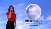 Weather presenter gets the giggles