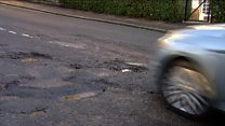 Pothole affliction troubles road users