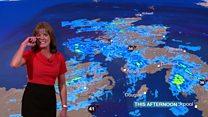 El ataque de risa que le dio a la presentadora del tiempo de la BBC en directo
