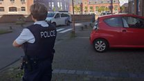 Belgian police attacked with machete