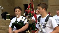 Piping festival gets underway in Glasgow