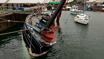 Historic boat overturns during festival