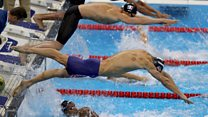 What are the marks on US swimmer Michael Phelps?